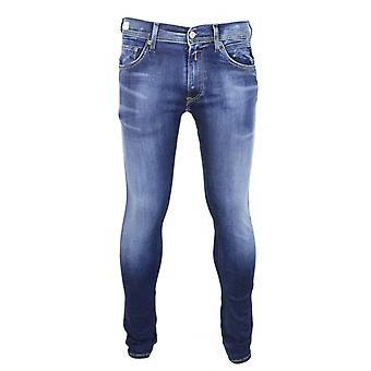 Replay Jondrill Hyperflex bio stretch donkerblauw Slim Jeans