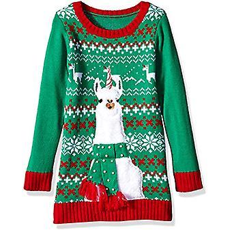 Blizzard Bay Girls Ugly Chrismas Sweater Tunic, red/Green/White/Llama, XL-16