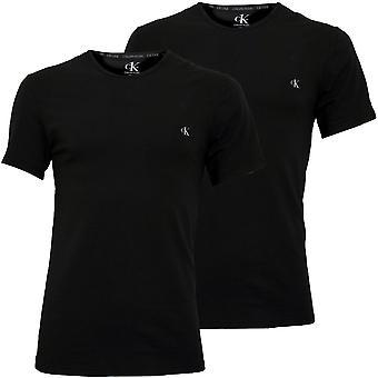 Calvin Klein 2-Pack CK1 Crew-Neck Stretch Cotton T-Shirts, Noir