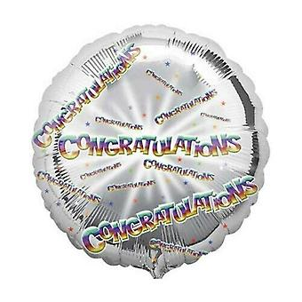 Anagram Circle Foil Congratulations Balloon