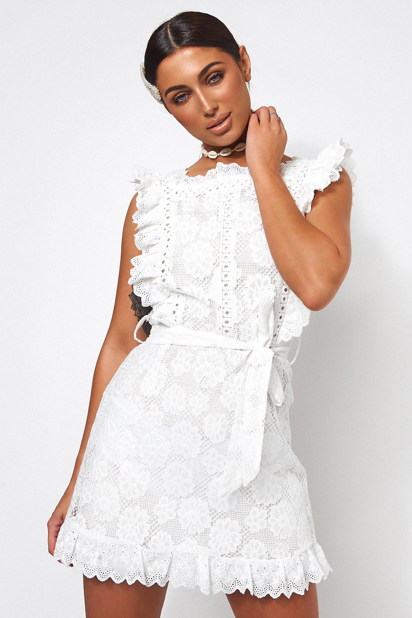 Aras Lace Frill Dress