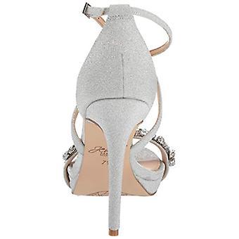 Jewel Badgley Mischka Women's DANY Sandal, silver glitter, 9.5 M US