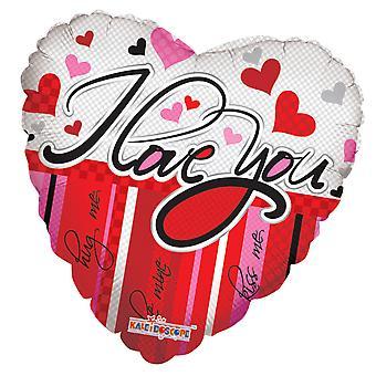 Foil Balloon Heart | I Love You - Be Mine - Hug Me - Kiss Me