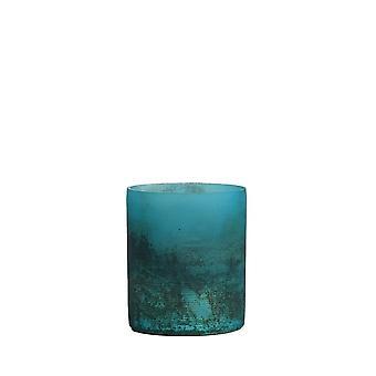 ضوء والمعيشة Tealight 8x9cm -- فاليريو مات الأزرق نصف الأسود