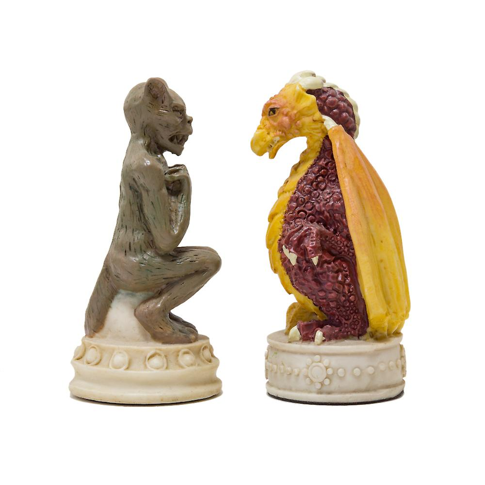 The Good vs Evil hand painted themed chess pieces by Italfama
