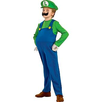 Super Mario Deluxe Luigi Boys Dress Up Toddler Costume 2-4