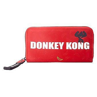 Nintendo Donkey Kong AOP Red Clutch Purse