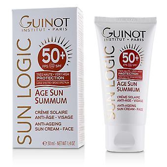 Sun logic age sun summum äntö ikääntyvä aurinkovoide kasvoille spf 50 + 226182 50ml / 1,7oz