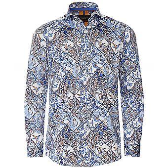Guide London Slim Fit Tile Print Shirt