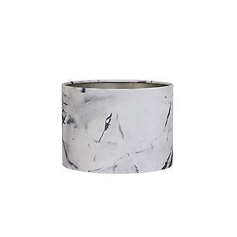 Licht & Living Zylinder Schatten 50x50x38cm Marmor grau