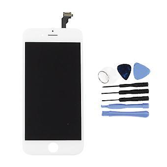 الاشياء المعتمدة® اي فون 6 4.7 واقتباس وشاشة (شاشة تعمل باللمس + LCD + أجزاء) AAA + الجودة - أبيض + أدوات