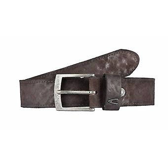 Beautiful Brown Suede Belt With Stitching Along The Edge
