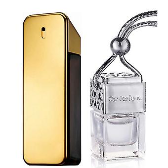 Paco Rabanne One Millione For Him Inspired Fragrance 8ml Chrome Lid Bottle Hanging Car Vehicle Auto Air Freshener