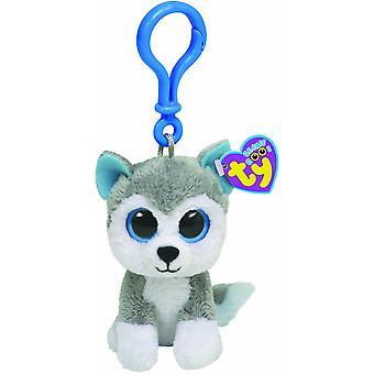 TY Beanie Boo Key Clip Dog Husky Slush