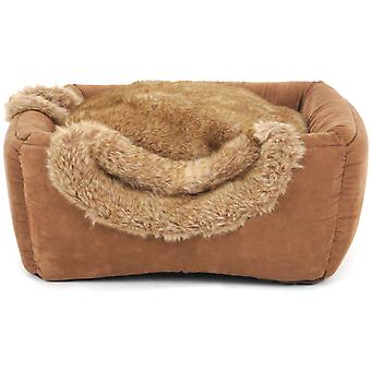 Freedog ブラウニー ボックス猫ベッド (寝具、ベッド、猫)