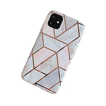 Mobile shell for iPhone11 Pro pink marble pattern