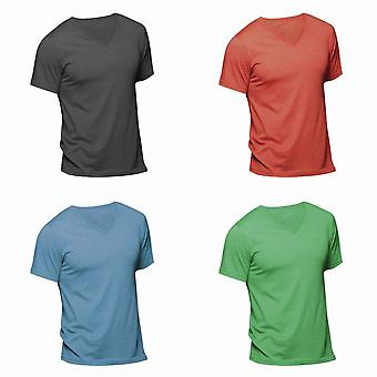 Canvas Mens Triblend V-Neck Short Sleeve T-Shirt