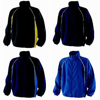 Finden & Hales Mens Piped Showerproof Full Zip Sports Training Jacket