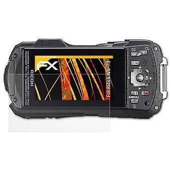 Ricoh WG-70 Ekran Koruma Filmi ile uyumlu atFoliX 3x Ekran Koruyucusu
