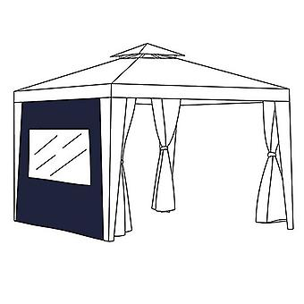 Blue Curtain Window Panel Patio Gazebo Outdoor Privacy Universal Fit 1.9m x 2.6m