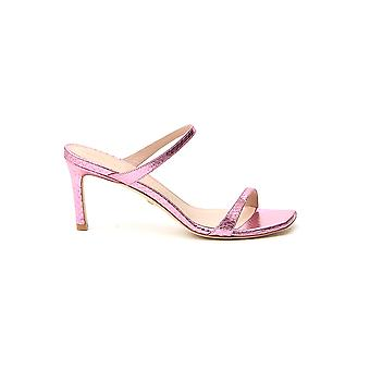 Stuart Weitzman Aleena75mpeqli Women's Pink Leather Sandals