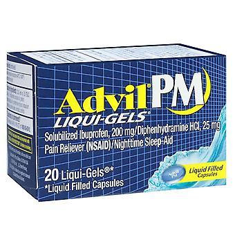 アドビル pm 痛み緩和・睡眠の援助、200 mg、リキッドジェル、20 ea