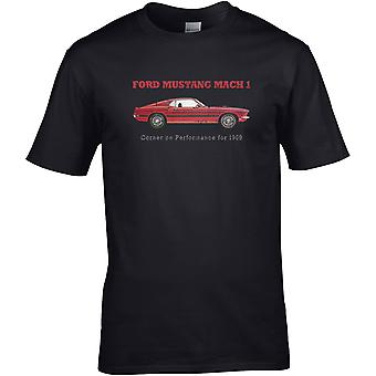 Ford Mustang Mach 1 Classic - AutoMotor - DTG Geprint T-shirt