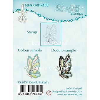 LeCrea Doodle Clear Stamp – Butterfly