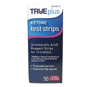 Trueplus ketone test strips, 50 ea