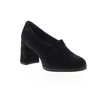 Camper Kara Mujeres Negro Nubuck Cuero Heels Slip On Zapatos Pumps