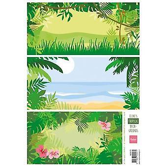 Marianne Design 3D Decoupage sheet Eline's tropical backgrounds AK0070