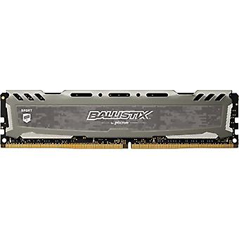 Crucial Ballistix Sport LT BLS8G4D26BFSB Gaming Memory for Fixed Computers, 2666 MHz, DDR4, DRAM, 8 GB, CL16, Gray