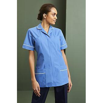 SIMON JERSEY Women's Lightweight Classic Collar Healthcare Scrub Tunic, Hospital Blue