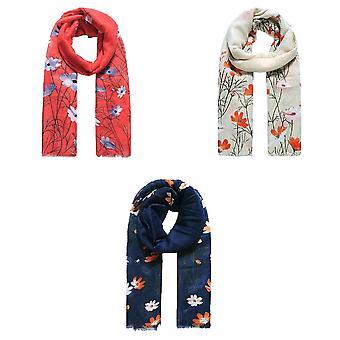 Jewelcity Femmes/Ladies Meadow Floral Print Scarf