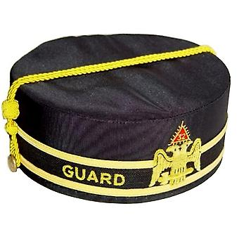 32nd degree guard scottish rite wings down cap hand embroidery