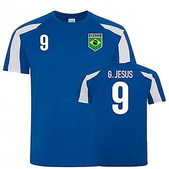 Brasilien Sports Training Jersey (G. Jesus 9)