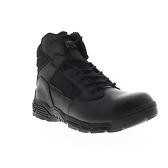 Magnum Stealth Force 6.0  Mens Black Leather Tactical Boots Shoes