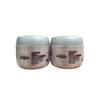 Ensemble de deux 2,56 OZ de L-apos;Oreal Vitamino Color Travel Size Hair Masque 2.56 OZ