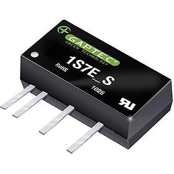 Gaptec 1S7E_2412S1.5U DC/DC converter (print) 24 V DC 12 V DC 84 mA 1 W Nr. van de uitgangen: 1 x