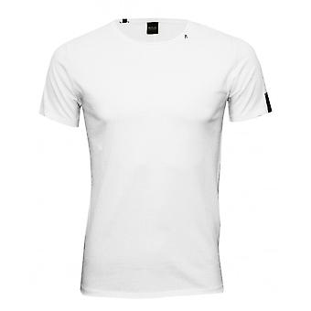 Replay Luxe Baumwolle Crew-Neck T-Shirt, weiß