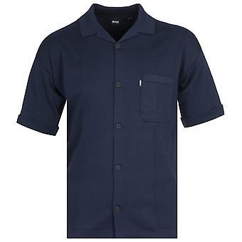 BOSS Avino Knitted Navy Shirt