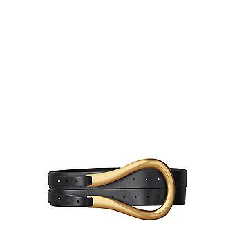 Bottega Veneta 577040vmau18648 Women's Black Leather Belt