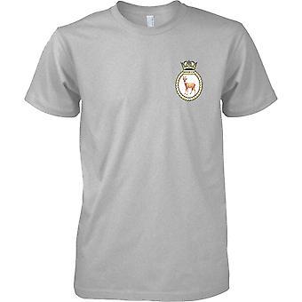 HMS Roebuck - désarmé en Royal Navy Ship T-Shirt couleur