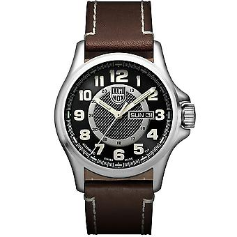 Luminox Field Automatic Black Dial Brown Leather Strap Men's Watch XL.1801.NV