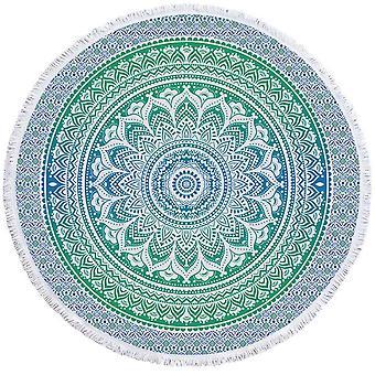 Vihreät ja siniset Hues Mandala ranta pyyhe