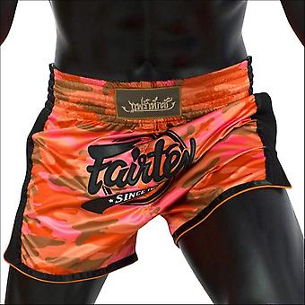 Fairtex slim cut muay thai shorts - red camo