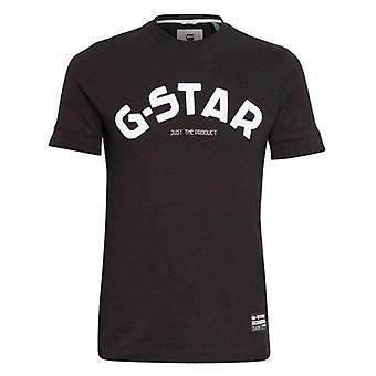 G-Star Felt Applique Logo Ohut T-paita D17654 Musta