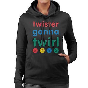 Twister menossa pyörittää naisten's Hupullinen collegepaita