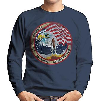 NASA STS 36 Atlantis Mission Badge Distressed Men's Sweatshirt