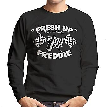7up Fresh Up Freddie Racing Flag Men 's Sweatshirt 7up Fresh Up Freddie Racing Flag Men 's Sweatshirt